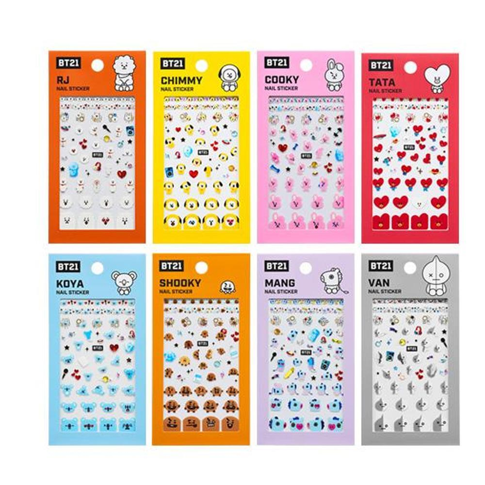 BT21 x OLIVE YOUNG [ OFFICIAL NAIL STICKER ]