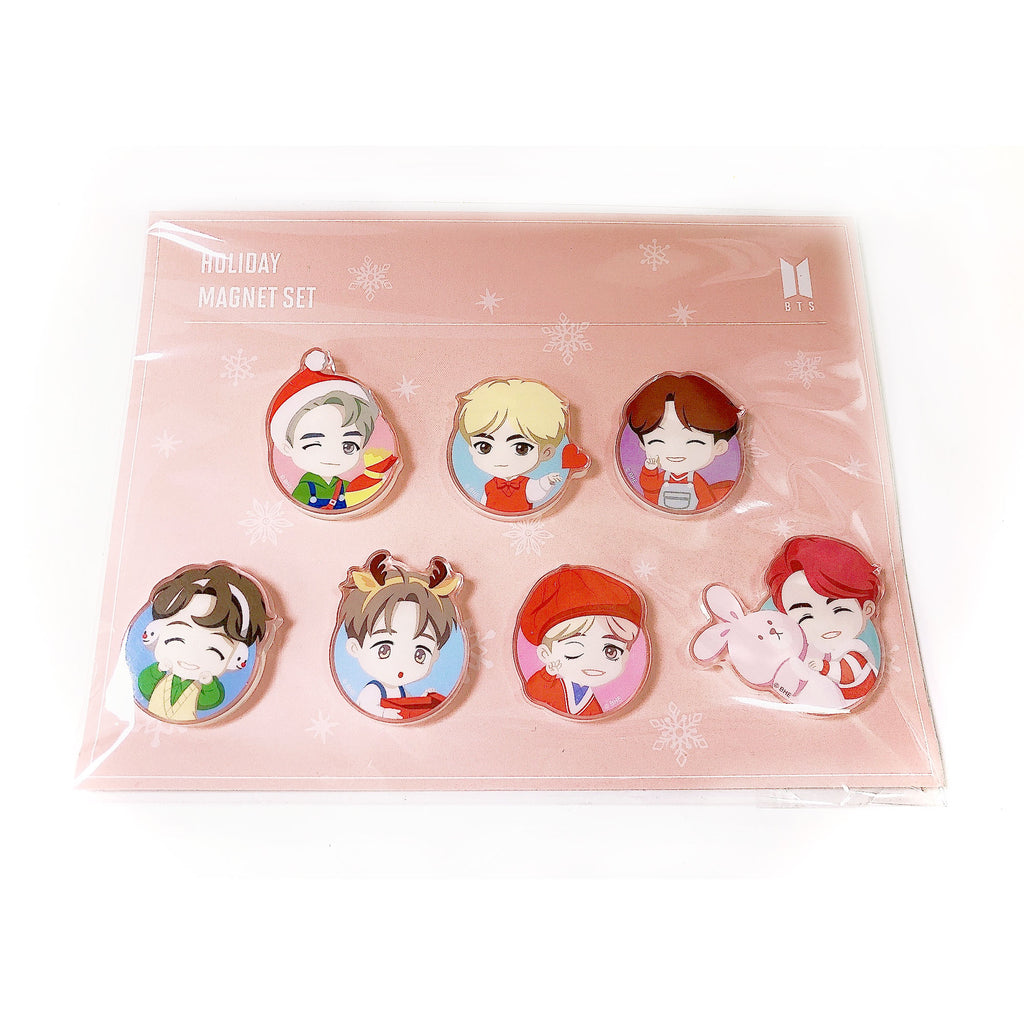 BTS Big Hit Holiday Magnet Set 7PCS