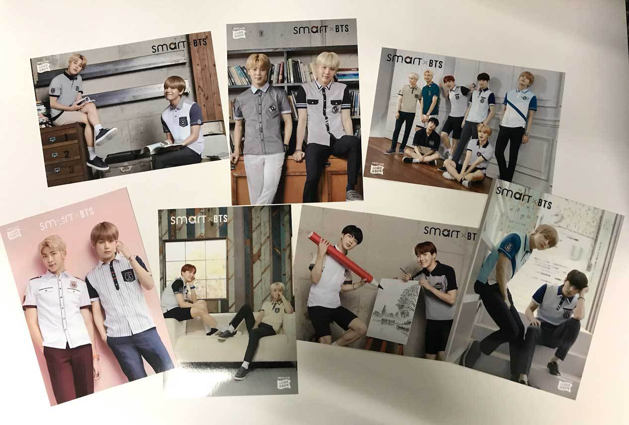 BTS | 방탄소년단 | Official Smart photo card  set 2nd edition (7 pieces)