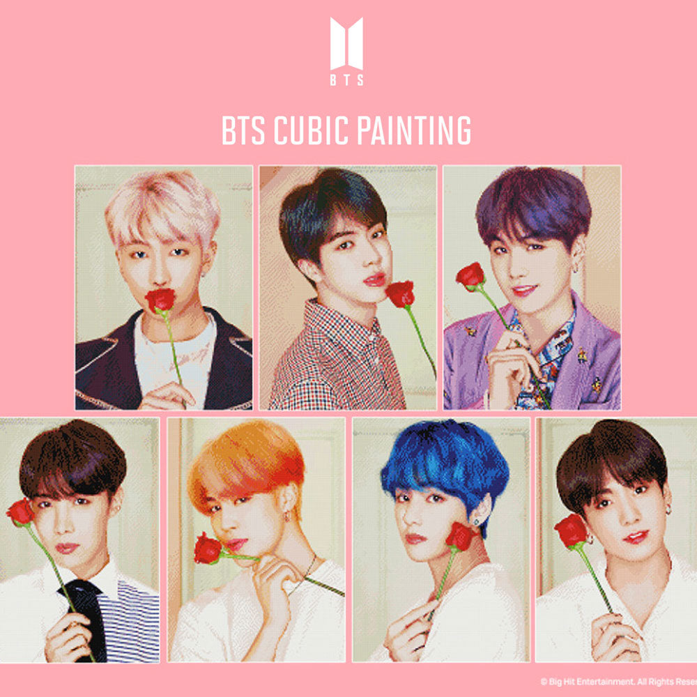 BTS DIY CUBIC PAINTING | OFFICIAL MD