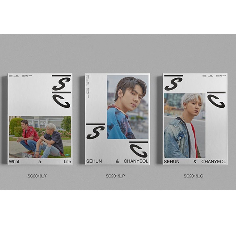세훈 & 찬열 EXO- SC 1ST MINI ALBUM [ WHAT A LIFE ] EXO SEHUN & CHANYEOL