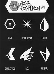 EXO FROM. EXOPLANET #1 SM OFFICIAL GOODS REFORM STICKER