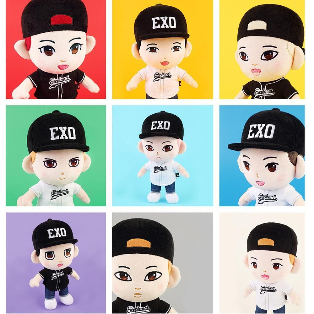 EXO OFFICIAL PLUSH DOLL | DOLL + T-SIRTS+ HOOD | SM OFFICIAL GOODS
