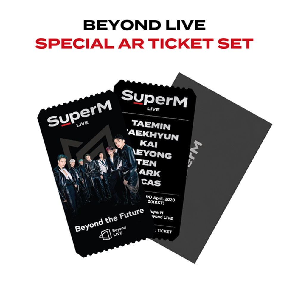 SUPERM BEYOND LIVE BEYOND THE FUTURE SPECIAL AR TICKET  SET