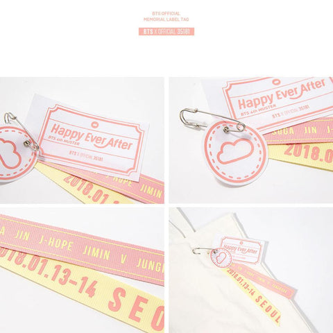 BTS 4TH MUSTER | HAPPY EVER AFTER OFFICIAL GOODS [ MEMORIAL LABEL TAG ]