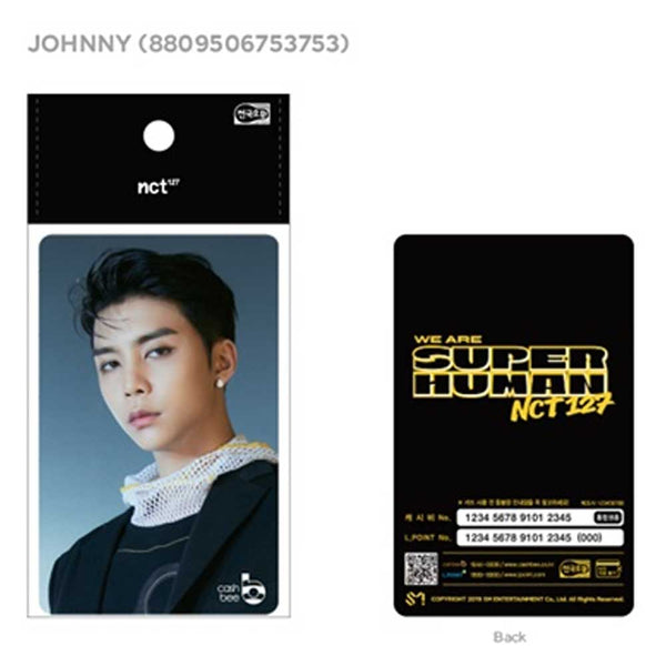 NCT 127 [ JOHNNY ]  KOREA TRAFFIC CARD * CASHBEE