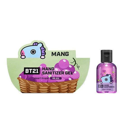BT21 Hand Sanitizer Gel [ Mang ] Heart Grape