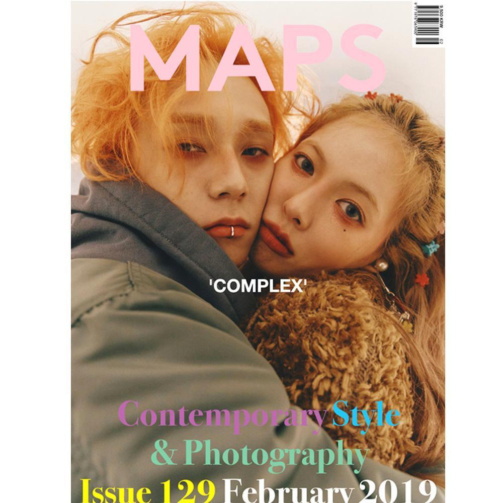 MAPS 2019-2 [ COVER- HYUN A, E'DAWN ] KOREA MAGAZINE