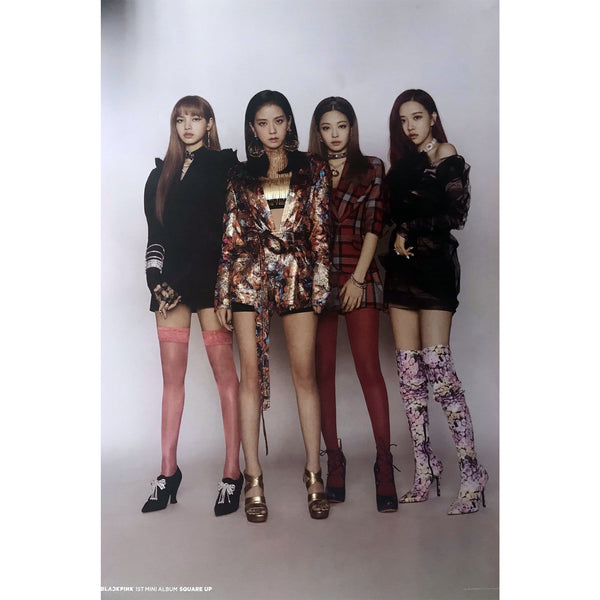 MUSIC PLAZA Poster Blackpink | 블랙핑크 | Square Up Album Poster (2 Sides) | POSTER