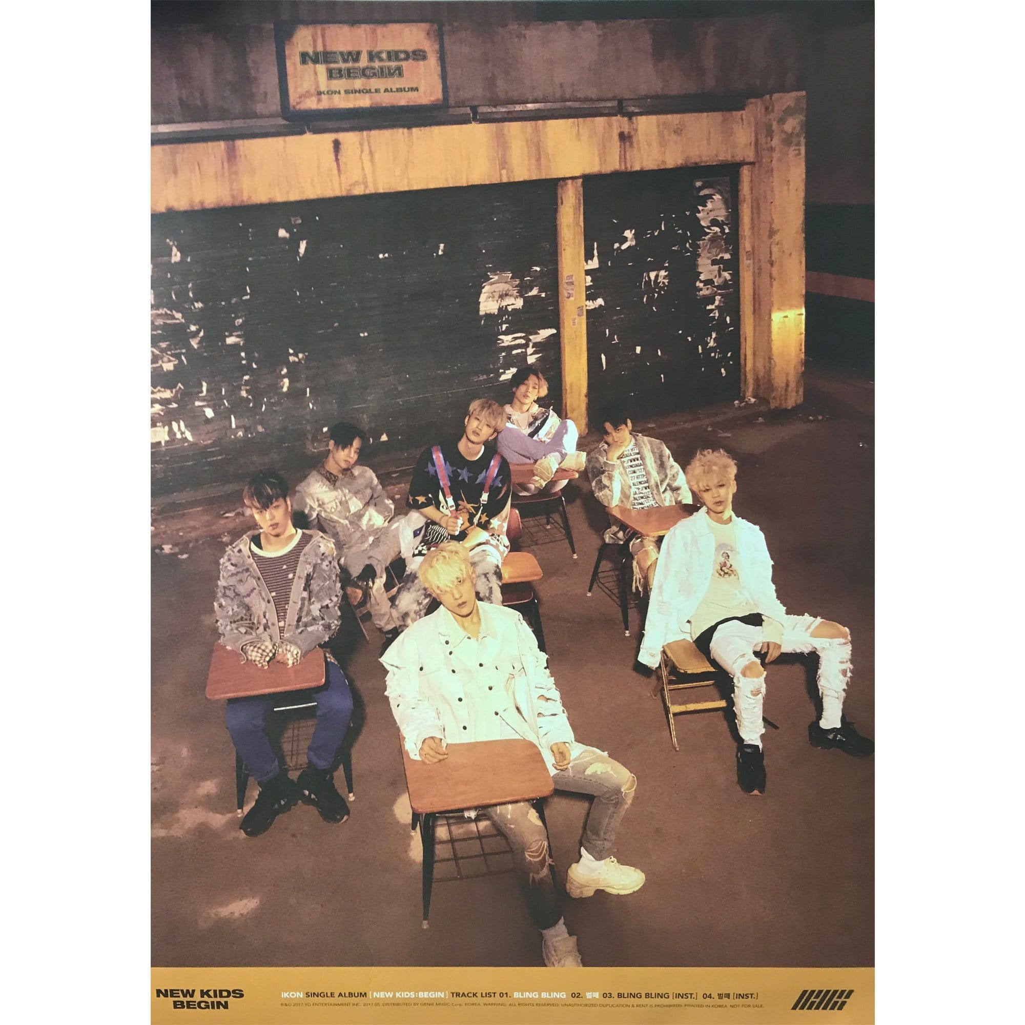 ikon | 아이콘 | Single album [ NEW KIDS : BEGIN ] | double-sided | POSTER