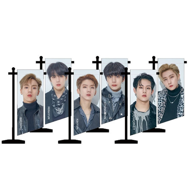 MONSTA X 2019 WORLD TOUR [ WE ARE HERE ] MINI PHOTO FLAG