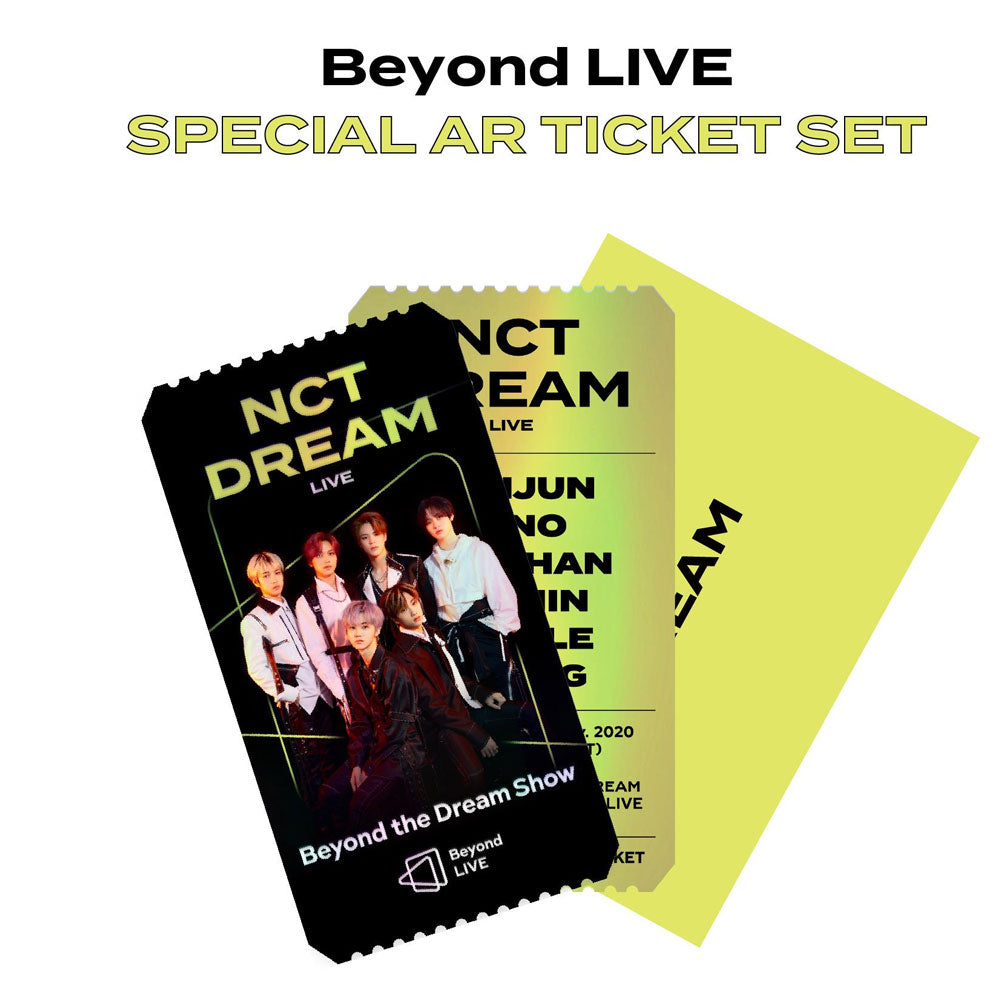 NCT DREAM Beyond LIVE Beyond the Dream Show SPECIAL AR TICKET SET