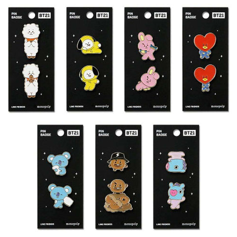 BT21 PIN BADGE VER.2 | OFFICIAL MD