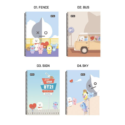 BT21 [ SPRING NOTE ] OFFICIAL MD