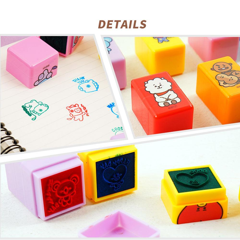 BT21 [ 3 PIECE  STAMP ] OFFICIAL MD