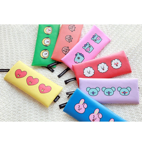 BT21 [ FLAT PENCIL CASE ] OFFICIAL MD