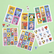 BT21 VINTAGE STICKER SET | 6PCS