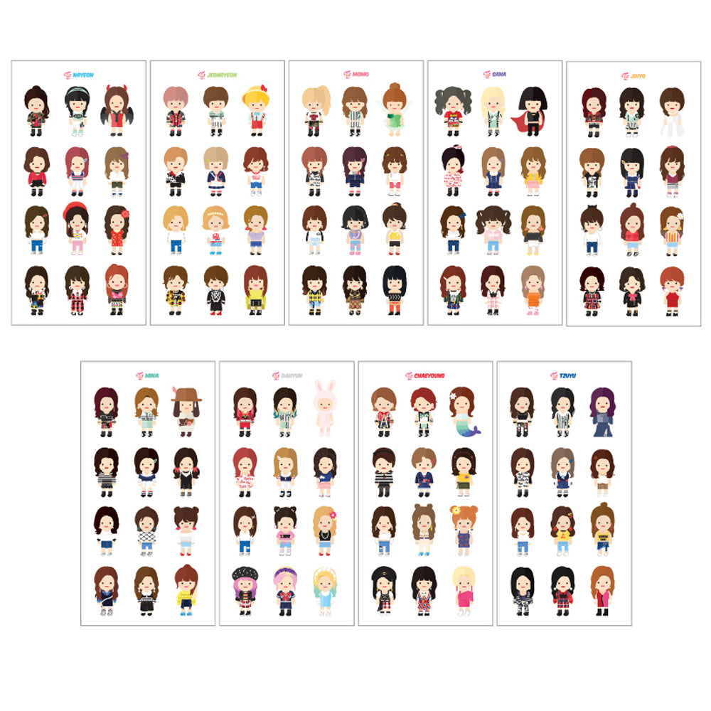 TWICE Twaii's Shop [ CHARACTER ALBUM STICKER ] OFFICIAL MD