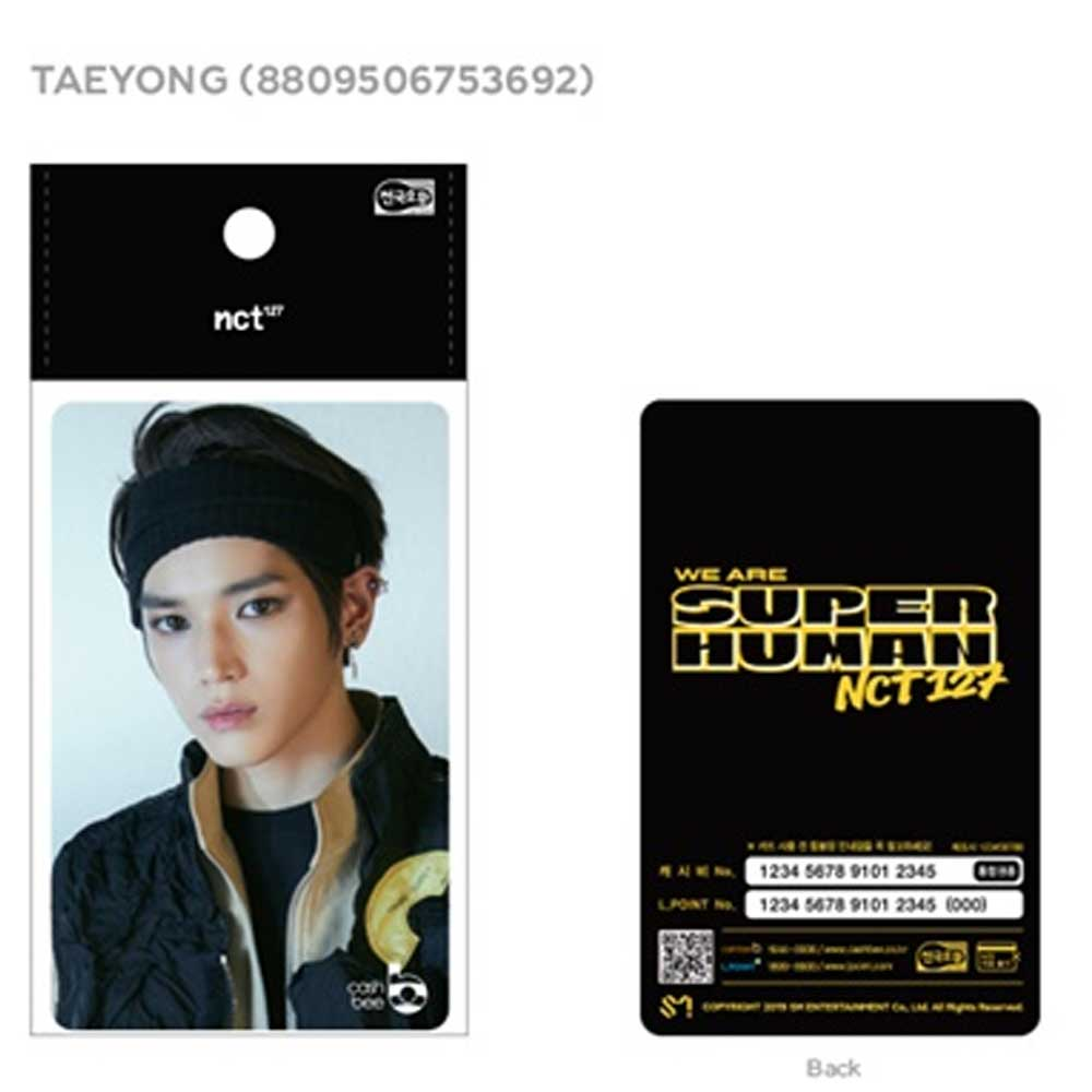 NCT 127 [ TAEYONG ] KOREA TRAFFIC CARD * CASHBEE