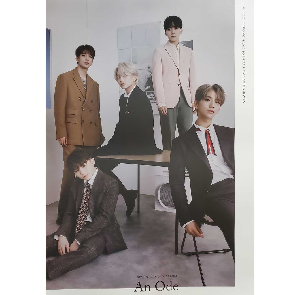 SEVENTEEN 3RD ALBUM [ AN ODE ] VOCAL TEAM POSTER  | POSTER ONLY