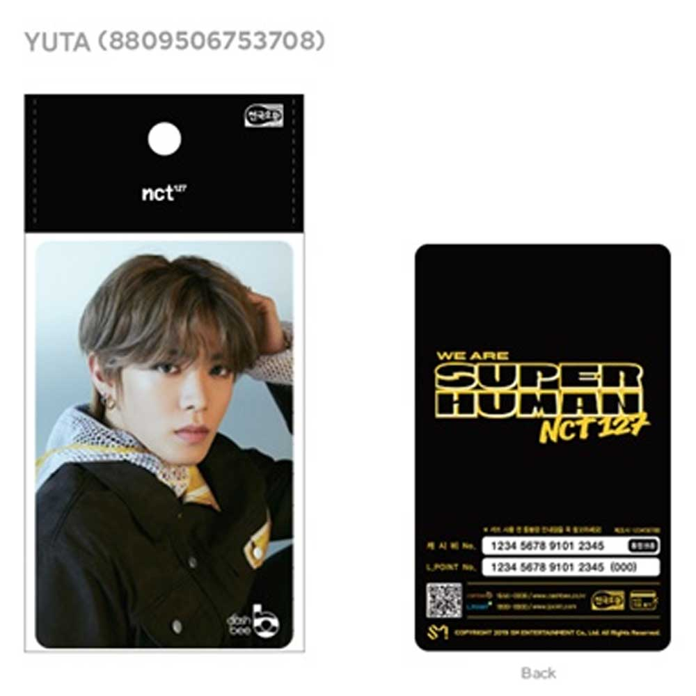 NCT 127 [ YUTA ] KOREA TRAFFIC CARD * CASHBEE