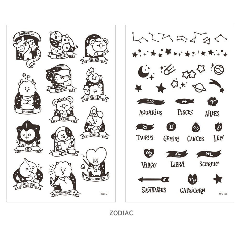 BT21 TATTOO STICKER | OFFICIAL MD