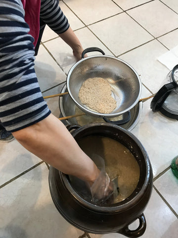 Mom making makgeolli