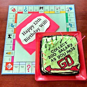 Monopoly Money Cake