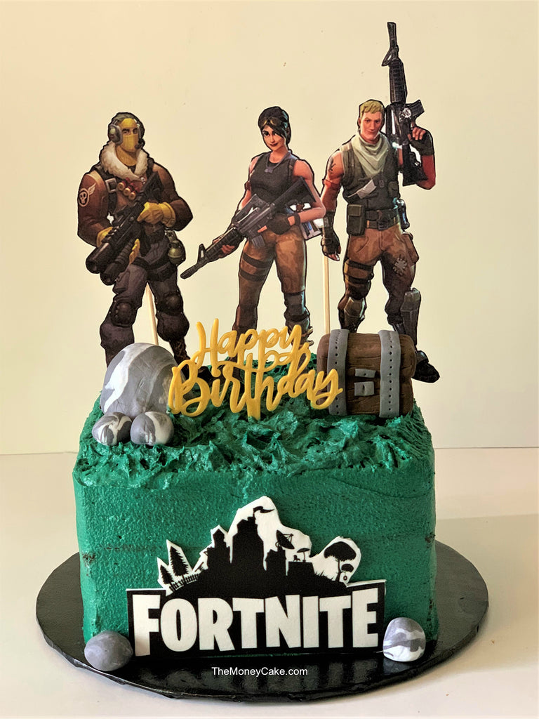 FORTNITE Birthday Money Cake