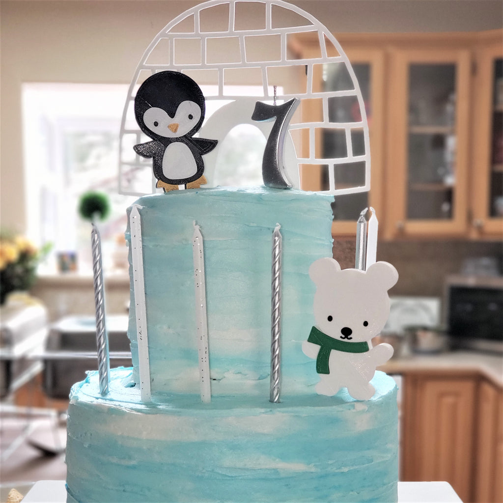 Elizabeth's Penguin Themed Cake