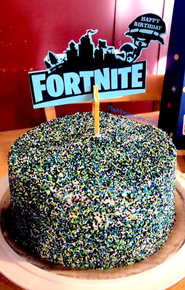 Fortnite-theme Money Cake Surprise