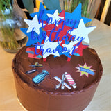 Red, White, Blue Stars Cake