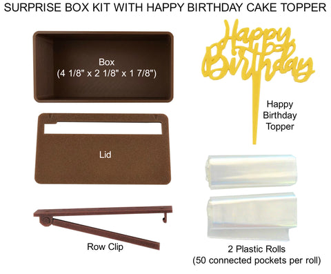 money cake surprise box