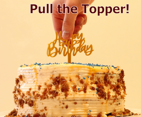 Pull the topper!