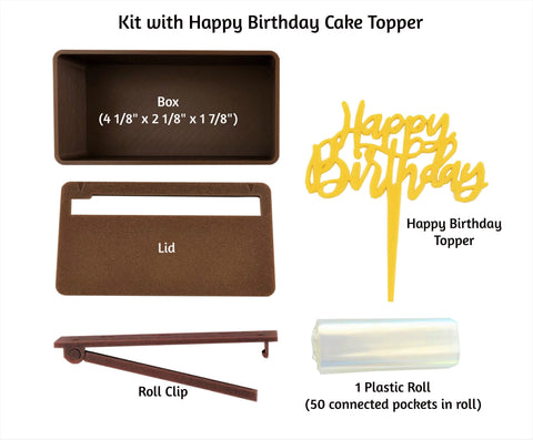 Surprise Box Kit with Happy Birthday Topper