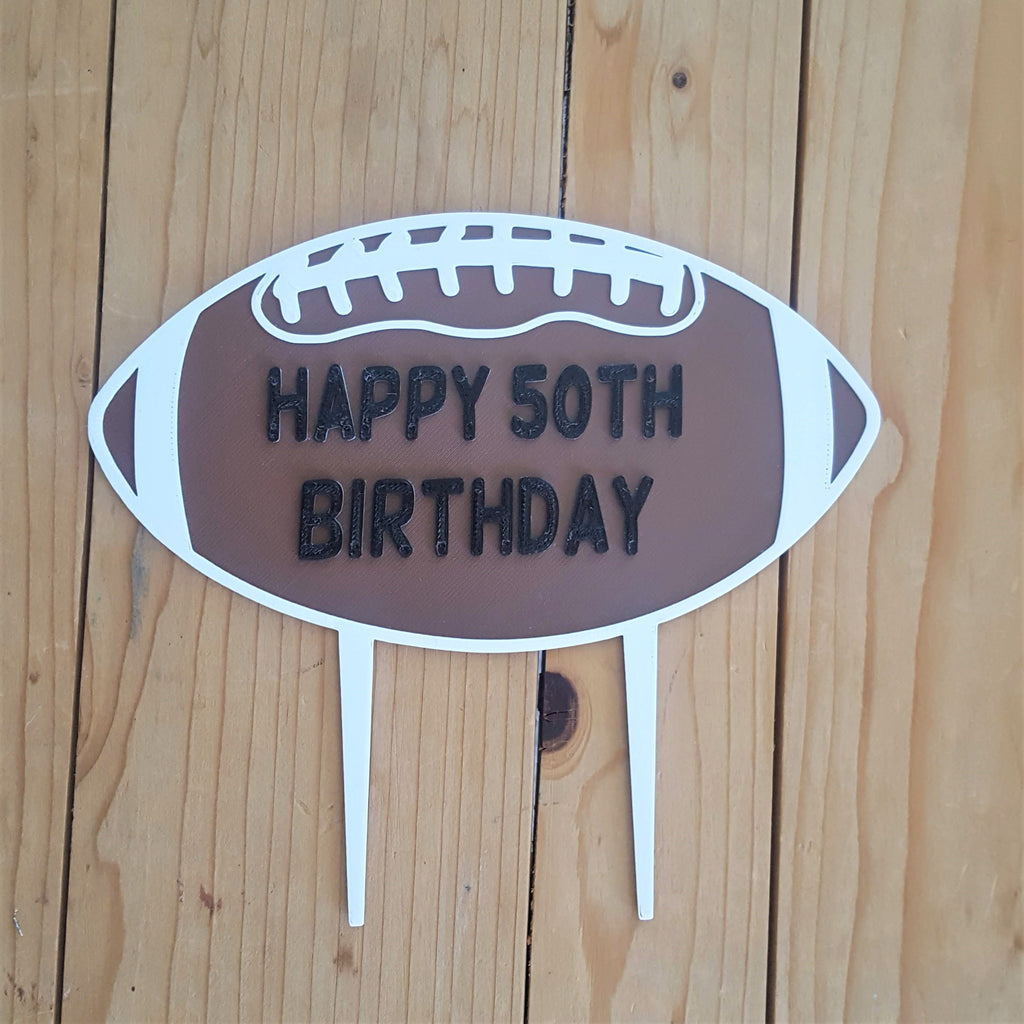 Football Cake Topper With Number/Age