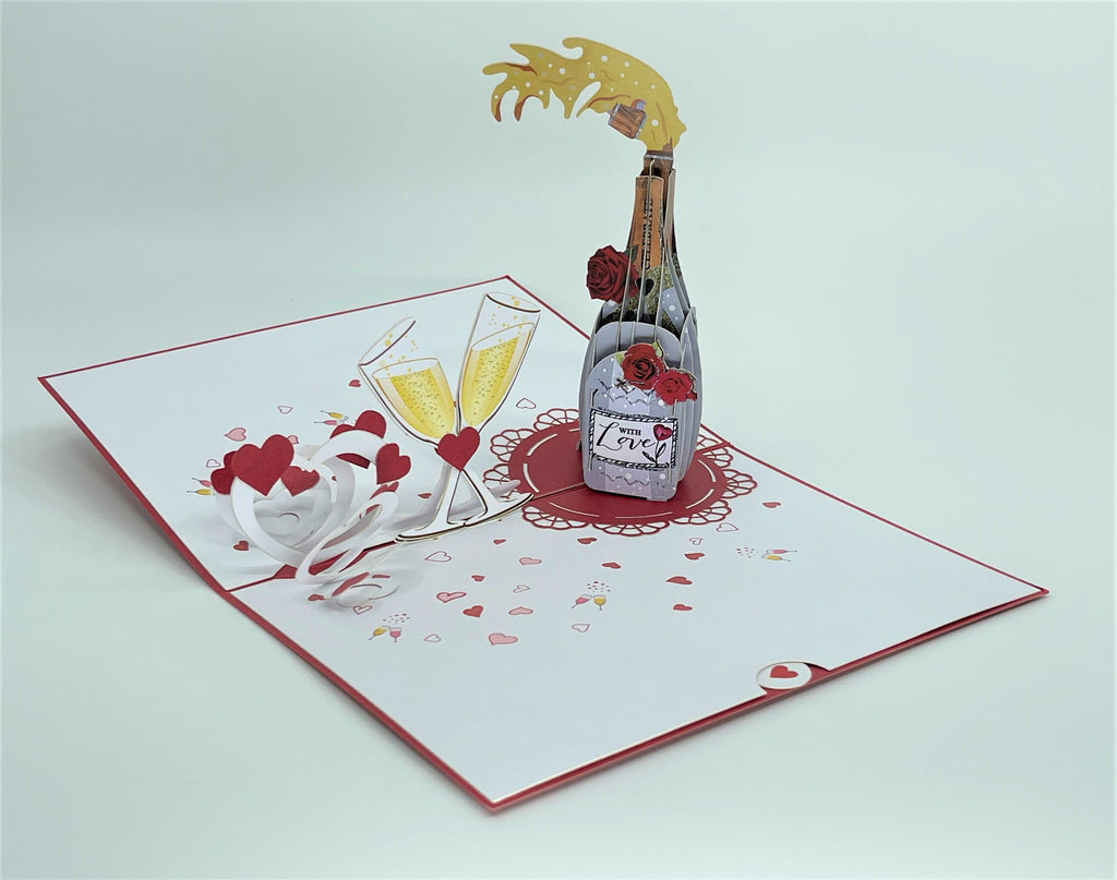 Champagne Love 3D Card