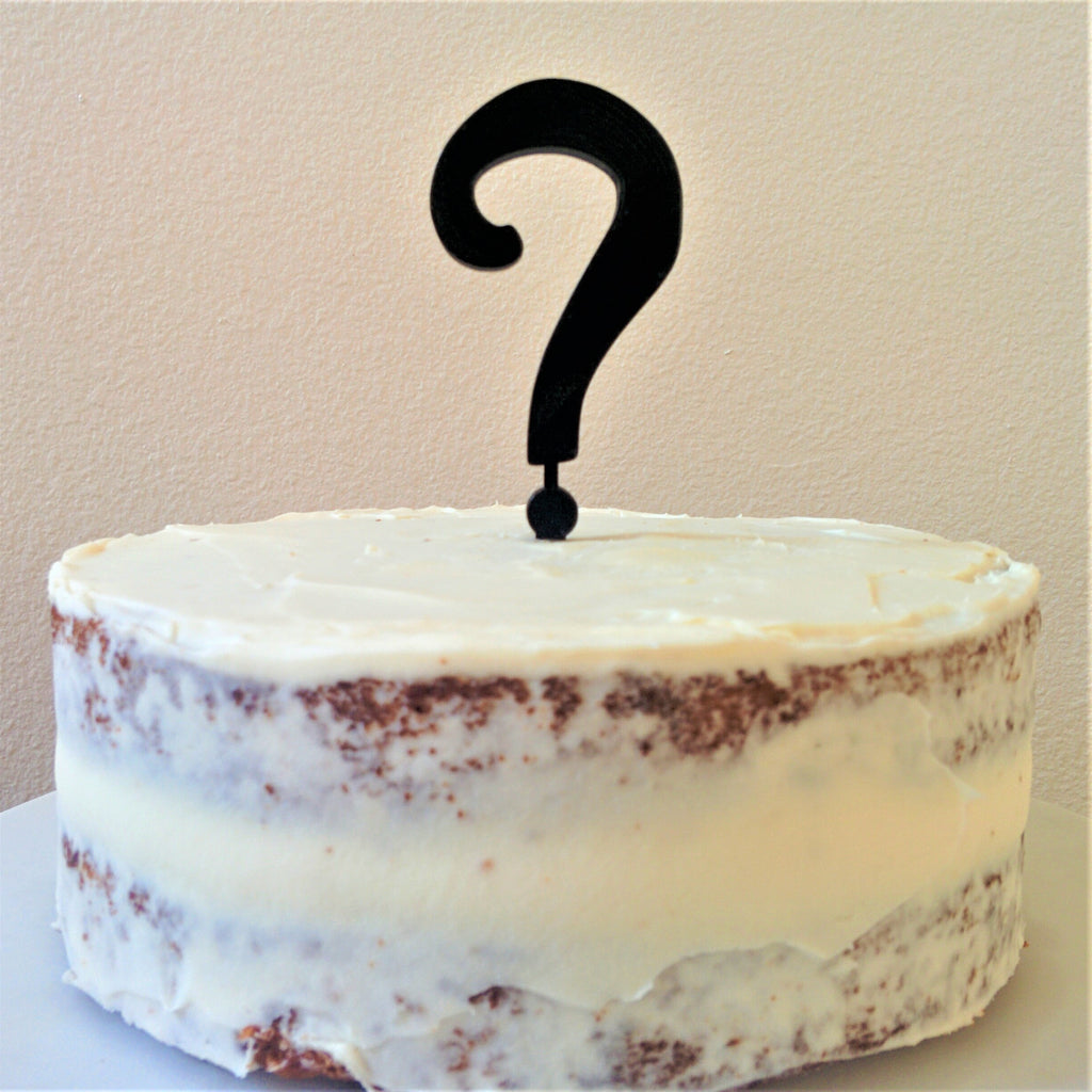 Question Mark Cake Topper and Candle Holder