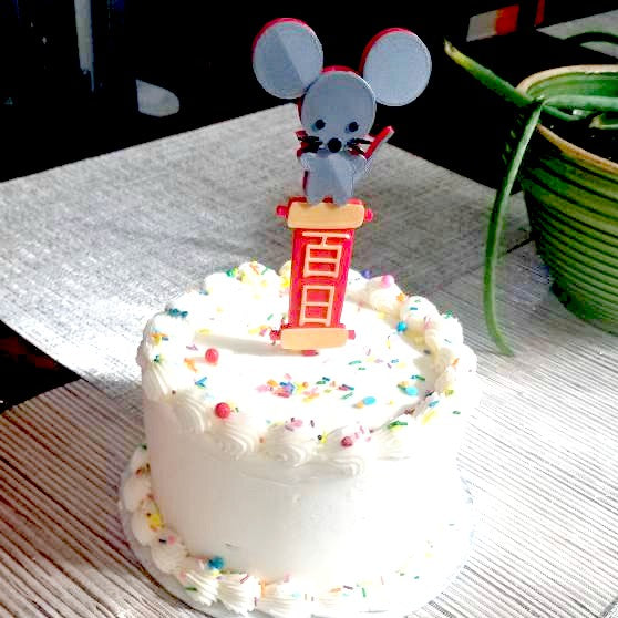 Year of the Rat Cake Topper and Candle Holder