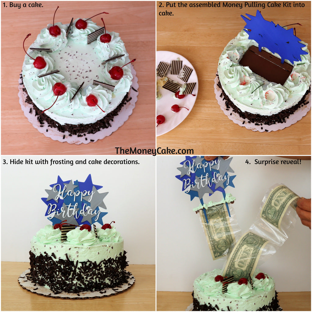 Money Pulling Cake Kit - Surprise Box™ with Card Holder Cake Topper