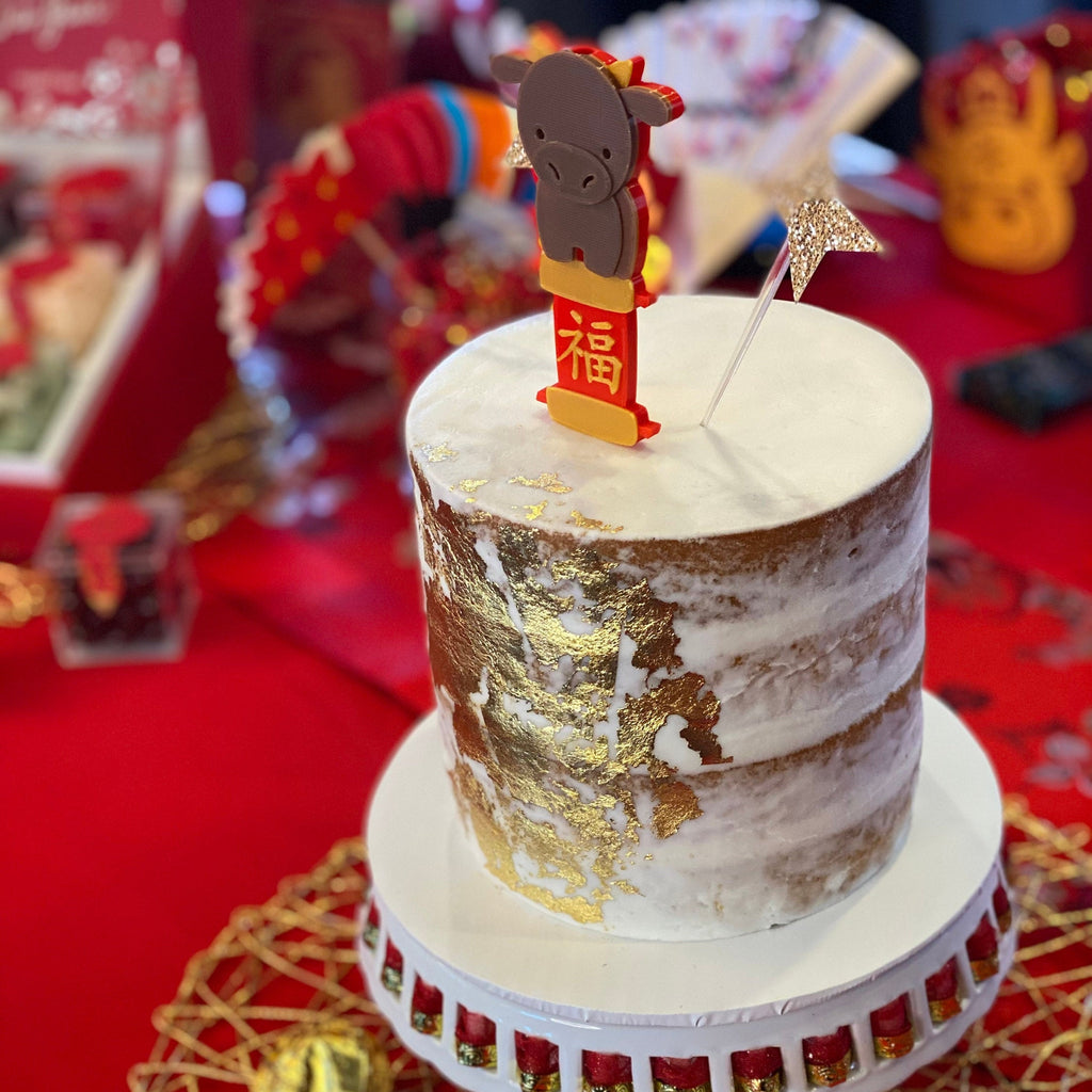 Year of Ox Cake Topper & Candle Holder