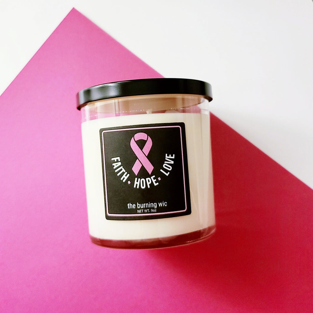 Cancer Awareness Soy Candle