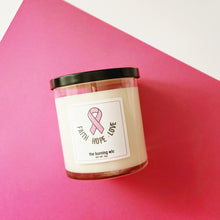 Load image into Gallery viewer, Cancer Awareness Soy Candle