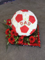 bespoke football funeral tribute