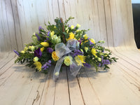 Small seasonal basket in delicate lemons and lilacs, PICTURE SHOWN IS SMALL SIZE