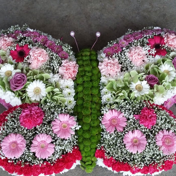 Butterfly design bespoke funeral tribute