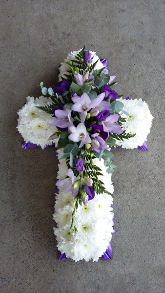 Cross funeral tributes