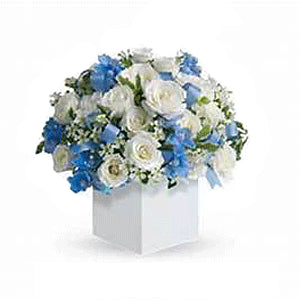 Delicate blue arrangement