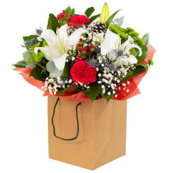 Handtied bouquet, Christmas Cracker