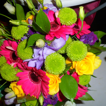 Vibrant hand-tied arrangement